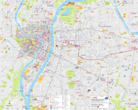 Lyon tourist attractions map