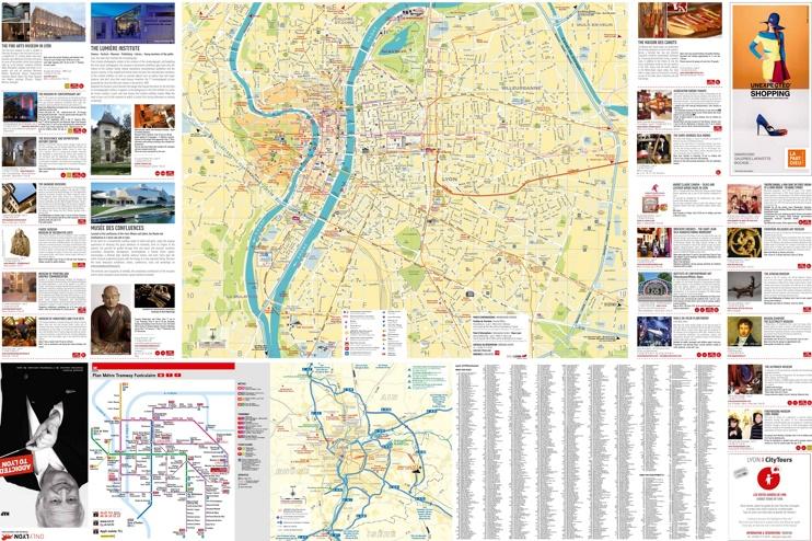 Lyon tourist map