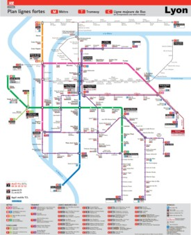 Lyon transport map