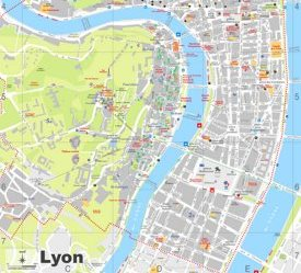 Lyon tourist map