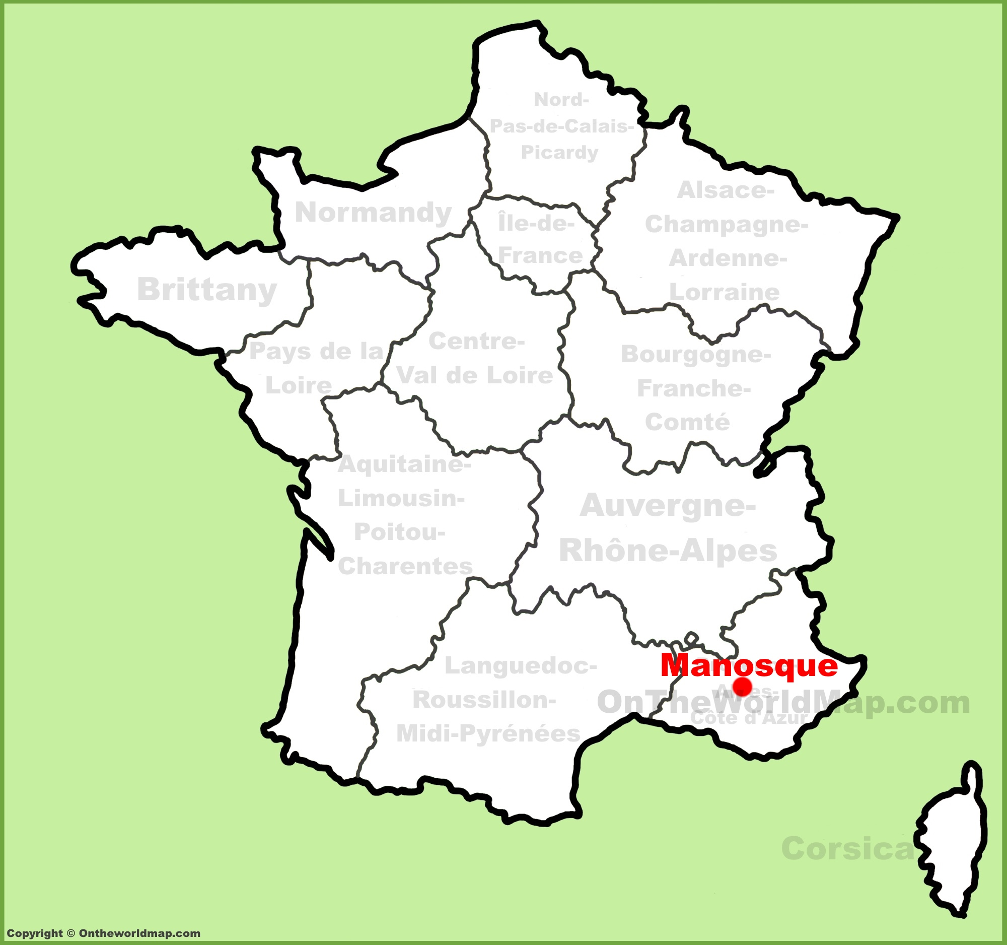 Manosque location on the France map