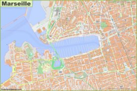 Detailed Map of Marseille City Center