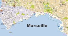 Marseille beaches map