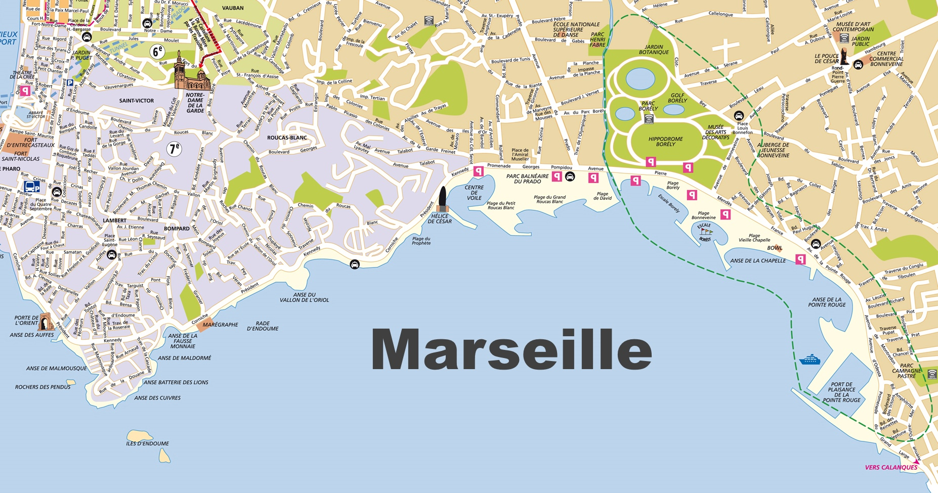 Marseilles France Map Marseille Maps | France | Maps of Marseille
