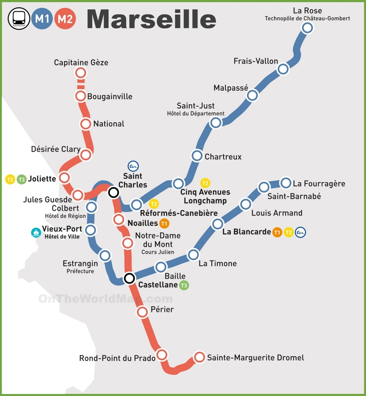Marseille metro map