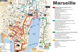 Marseille tourist attractions map