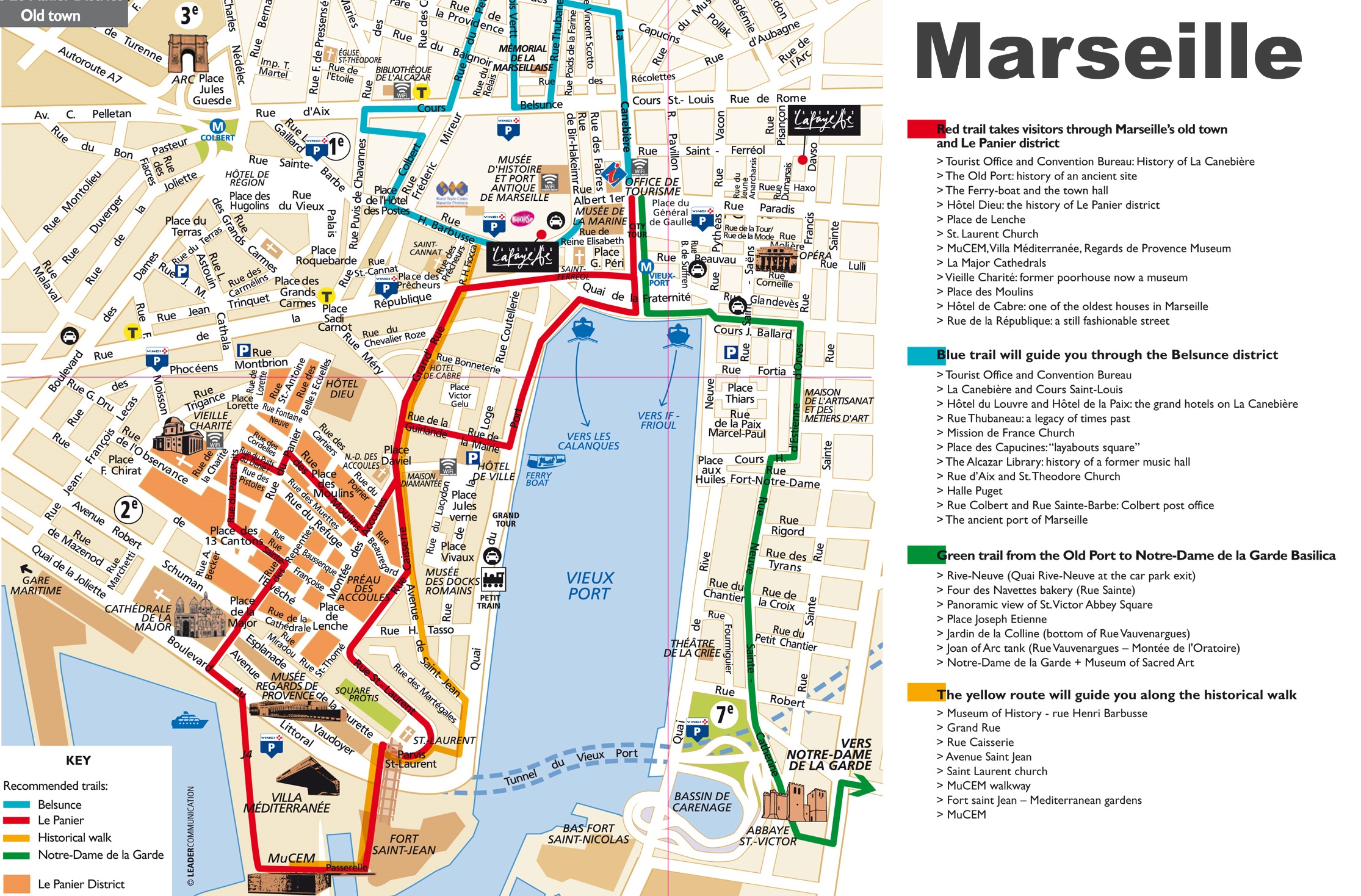 Marseille tourist attractions map – France Tourist Attractions Map