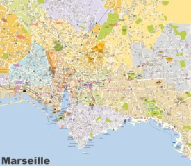 Marseille tourist map