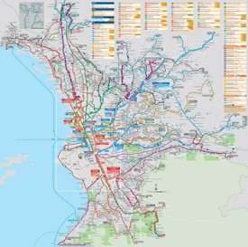 Marseille transport map