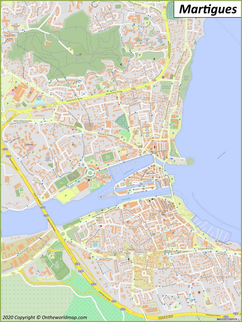 Map of Martigues