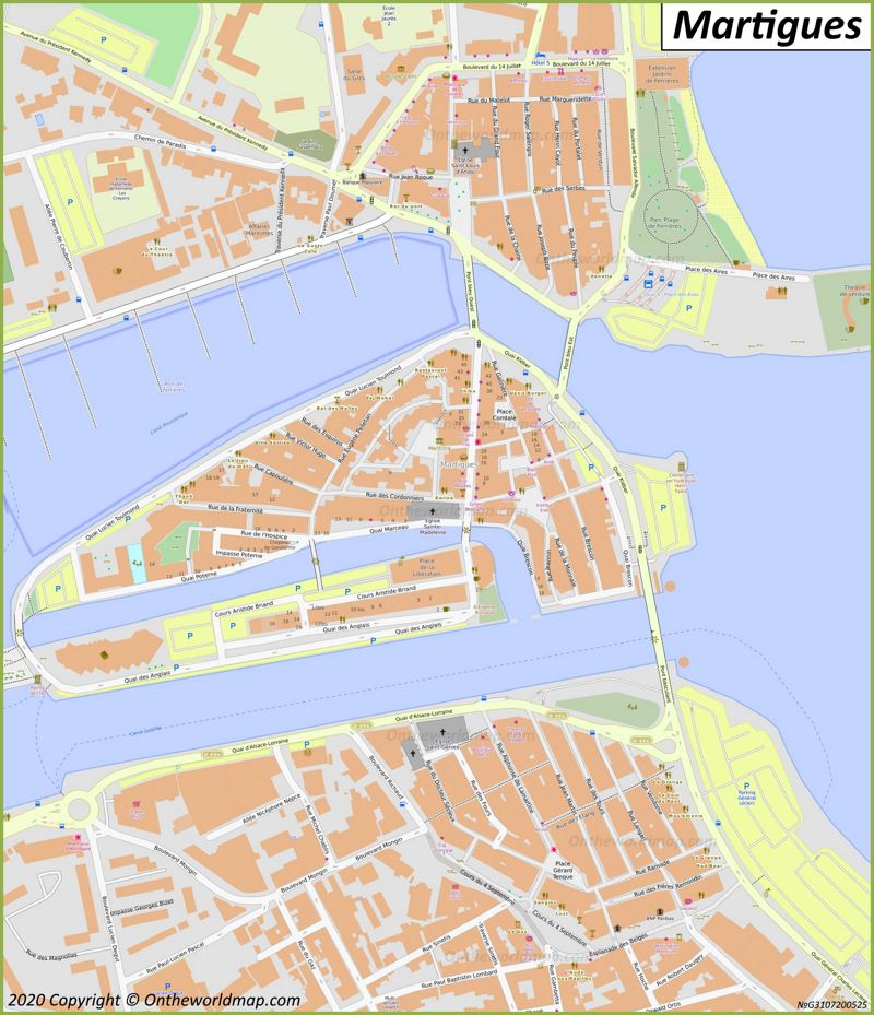 Martigues City Center Map
