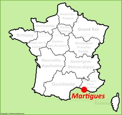 Martigues Location Map