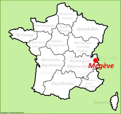 Megève Location Map