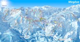 Megève Ski Map