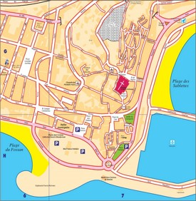 Menton city center map