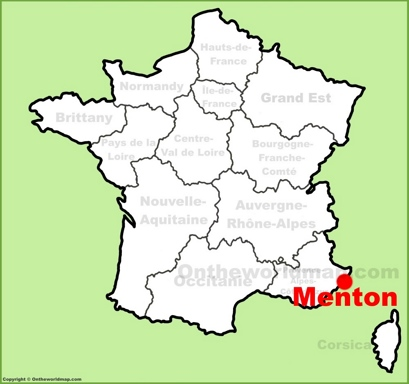 Menton Location Map