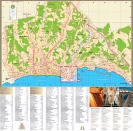 Menton tourist map
