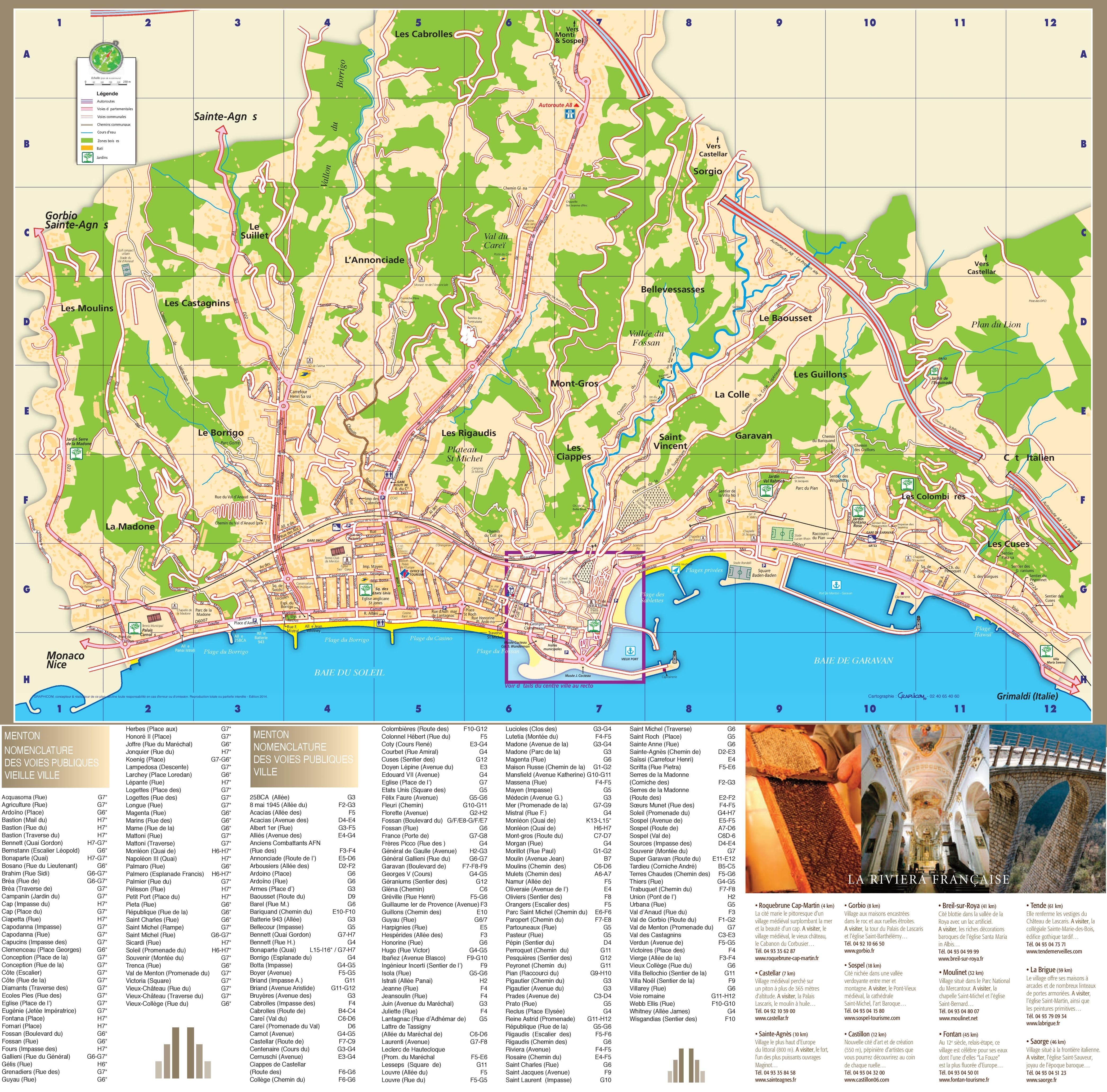 Menton Maps France Maps of Menton