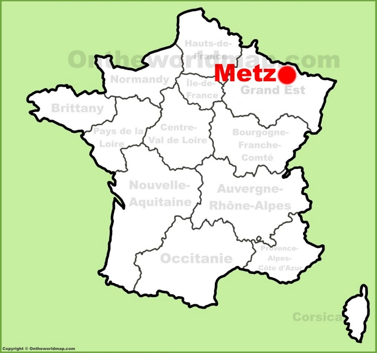 Metz location on the France map
