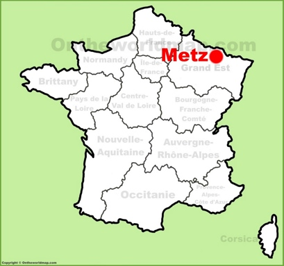 Metz Location Map