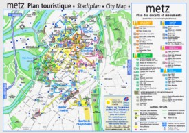 Metz tourist map