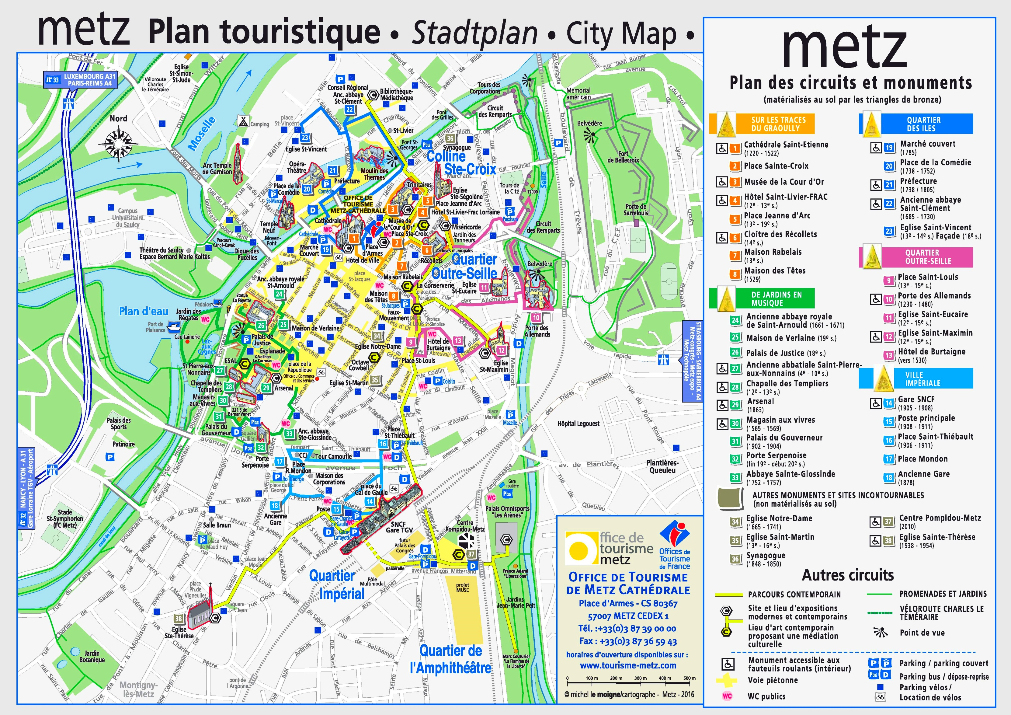 City Map Of Metz France