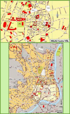 Millau tourist map