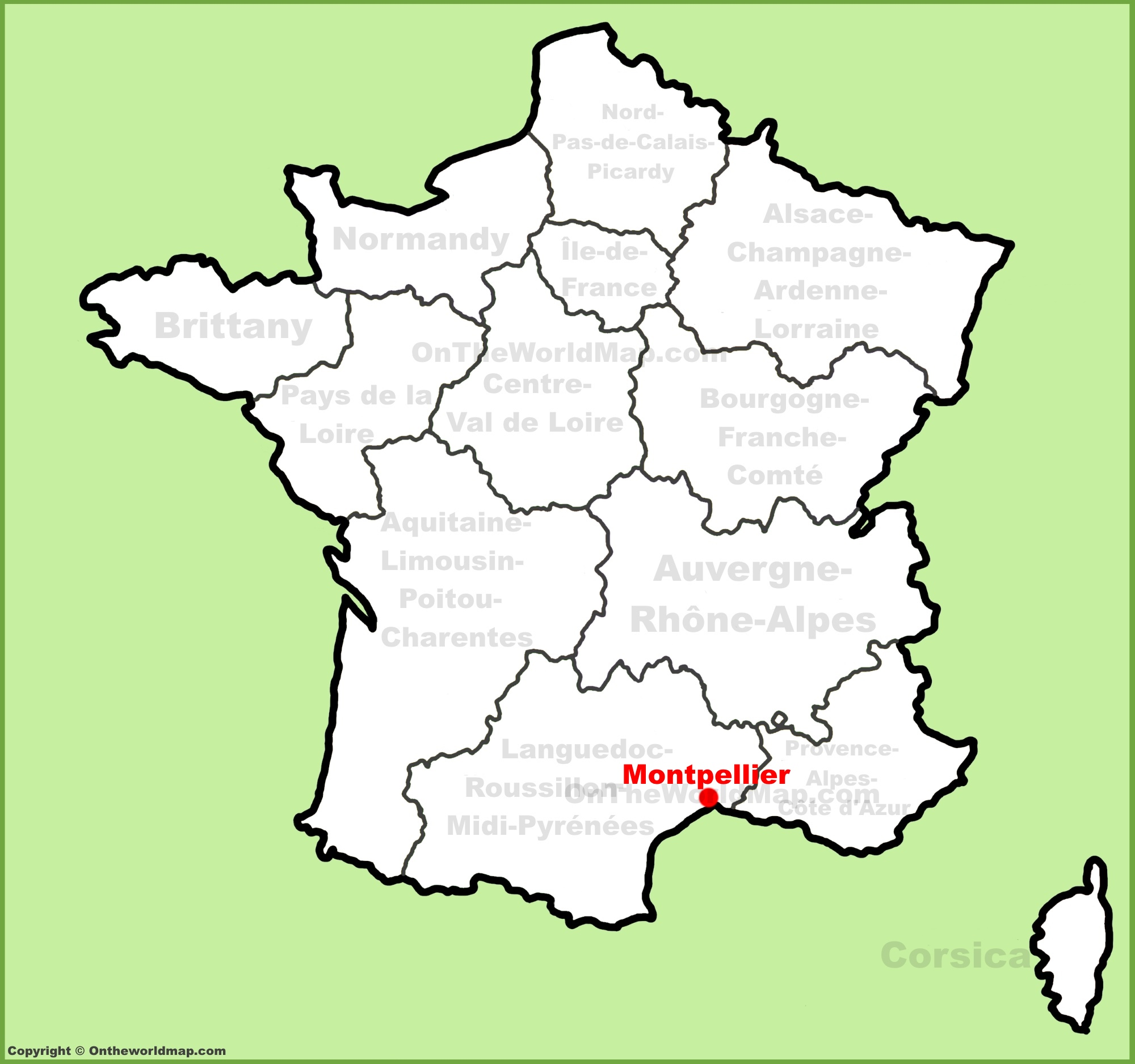 Montpellier location on the France map