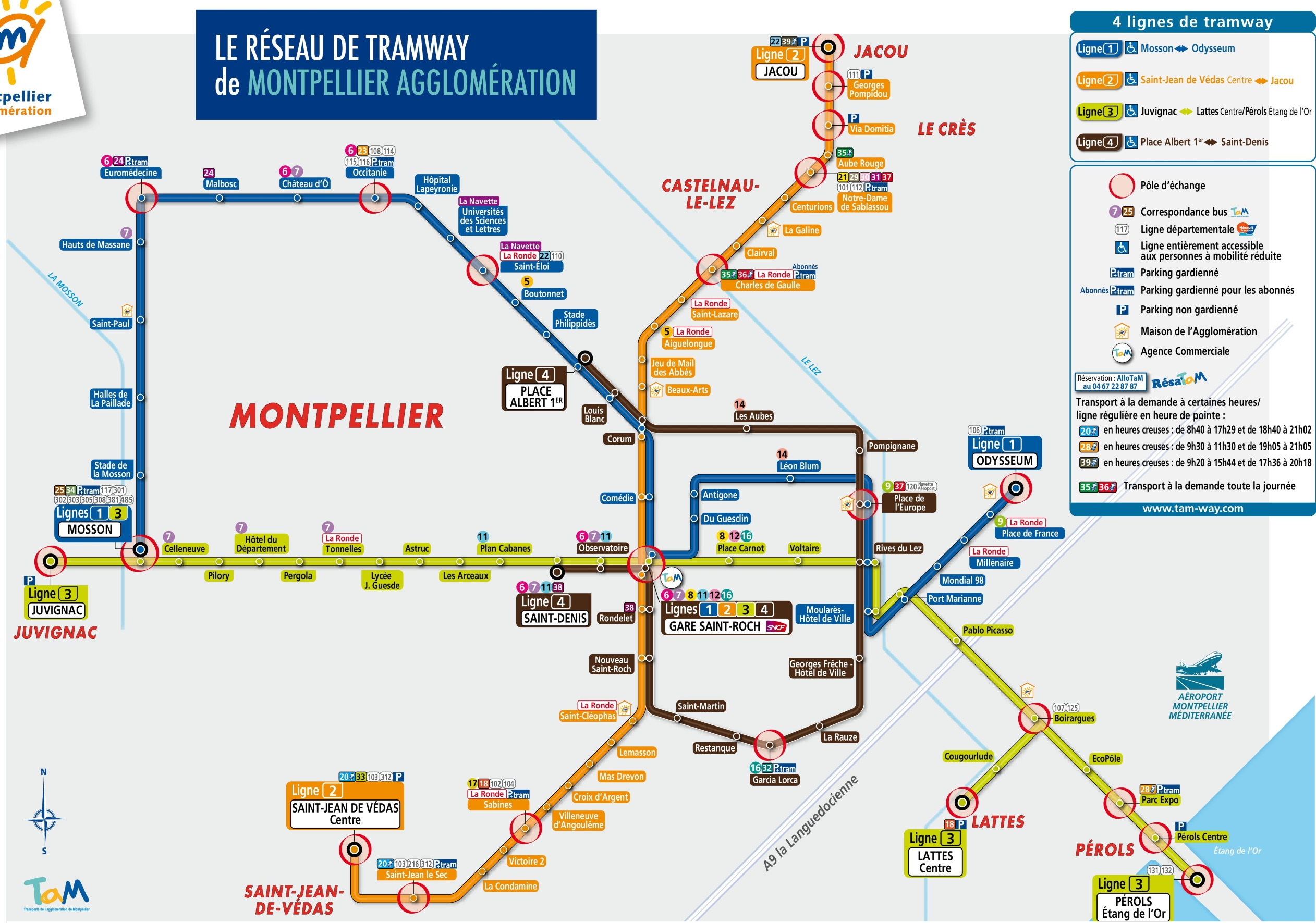 Montpellier tram map