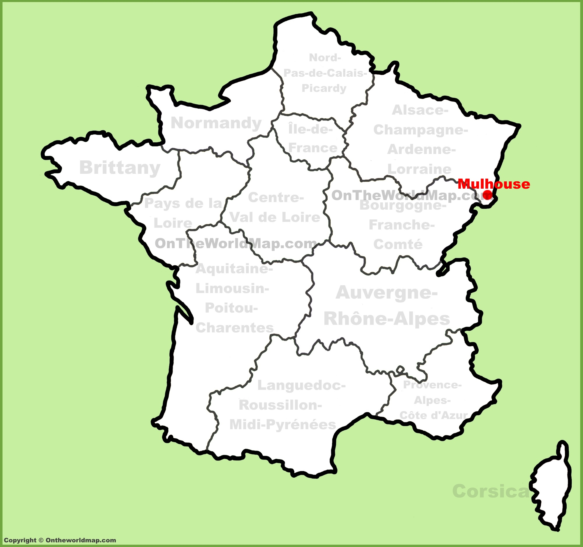 Mulhouse location on the France map