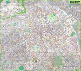 Large detailed map of Nancy