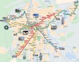 Nancy tram map