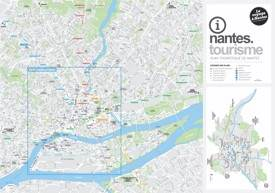 Large detailed tourist map of Nantes