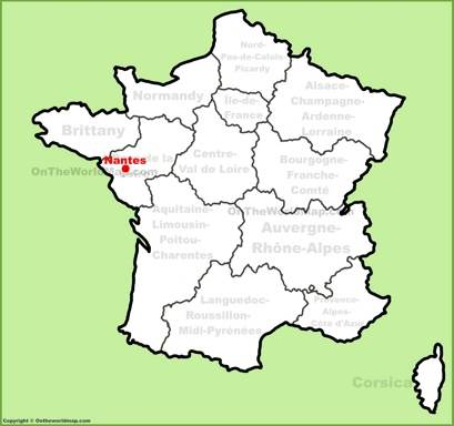Nantes Location Map