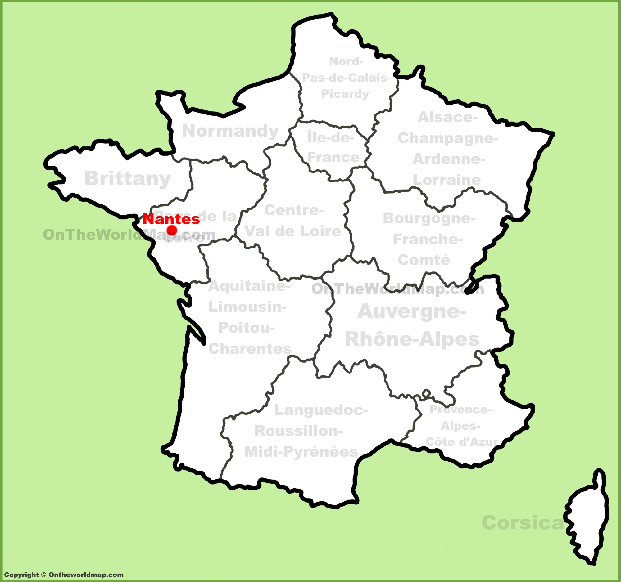 Nantes location on the France map