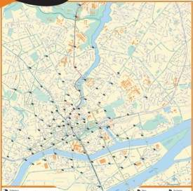 Nantes sightseeing map