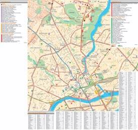 Nantes tourist attractions map