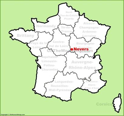 Nevers Location Map