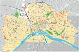 Nevers tourist map