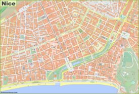 Detailed map of Nice City Center