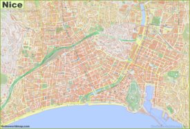 Large detailed map of Nice