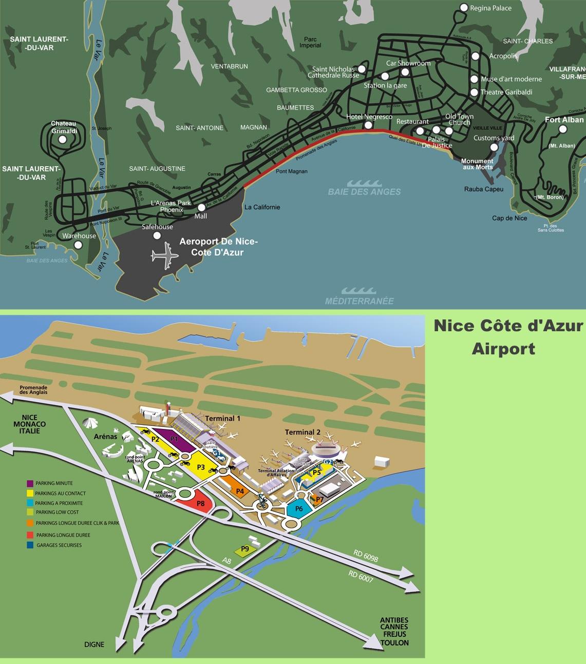 Nice Airport Map