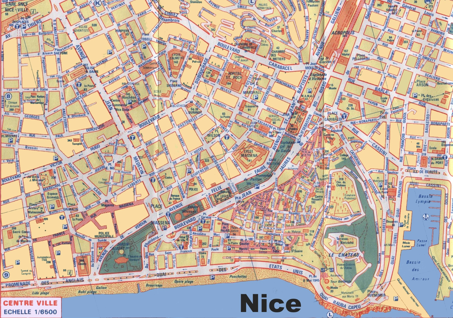 Nice city centre map