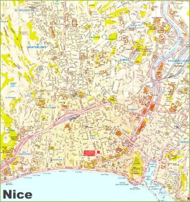 Nice tourist map