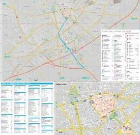 Nîmes tourist attractions map