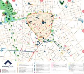 Nîmes Tourist Map