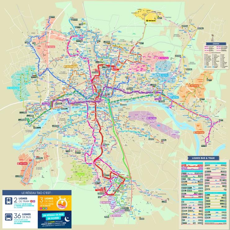 Orléans transport map