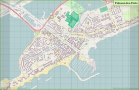 Large detailed map of Palavas-les-Flots