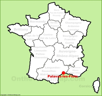 Palavas-les-Flots Location Map