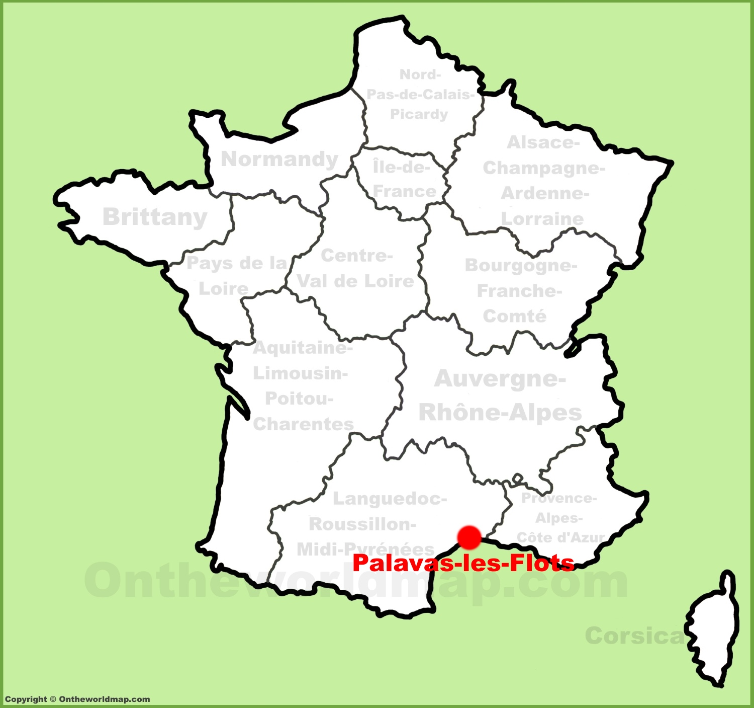 PalavaslesFlots location on the France map